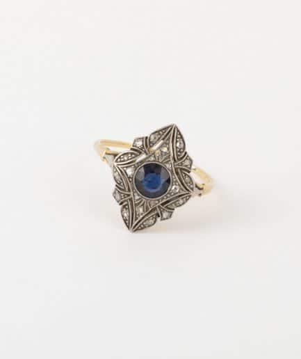 Bague Art déco saphir et diamants Bague Ancienne Bijoux Anciens - Caillou Paris