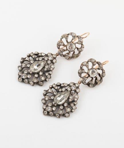 Boucles d'oreilles boutons de col en argent