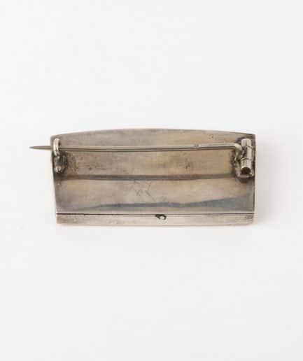 Broche miniature en grisaille dos