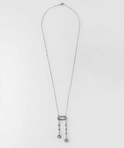 Collier négligé diamants