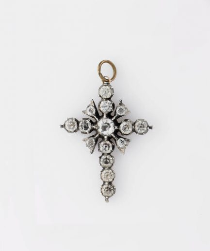 Croix pierres du rhin Pendentif ancien Bijoux Anciens - Caillou Paris