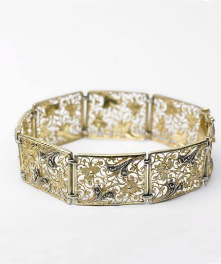 Bracelet manchette vermeil Bracelet Ancien 1920-1930 Bijoux Anciens - Caillou Paris