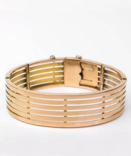 Bracelet manchette Napoléon III Bracelet Ancien Bijoux Anciens - Caillou Paris
