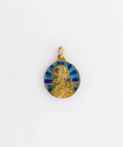 Médaille Art nouveau signée Becker Pendentif ancien Bijoux Anciens - Caillou Paris
