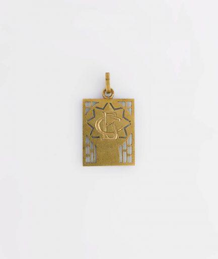 Médaille ancienne dos