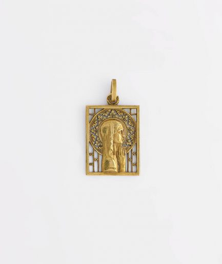 Médaille signée Delamarre Pendentif ancien Bijoux Anciens - Caillou Paris