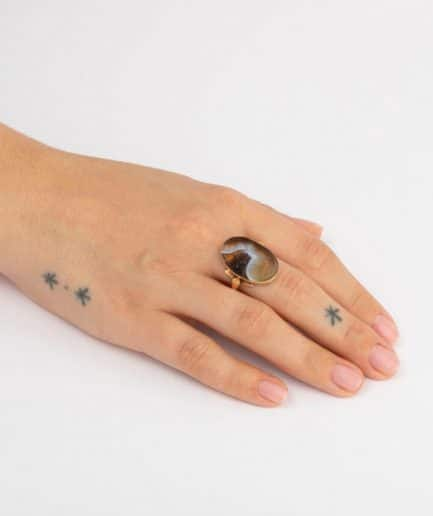 Bague intaille porter