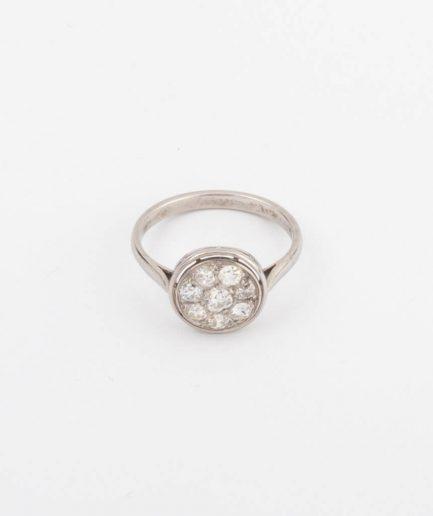 Bague en platine et diamants Bague Ancienne Bijoux Anciens - Caillou Paris