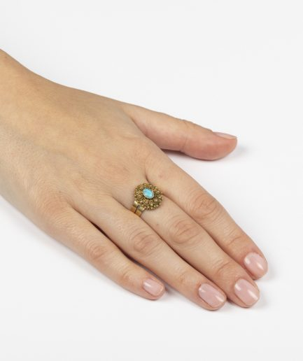 Bague ancienne turquoise