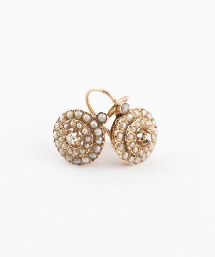 Boucles d'oreilles perles Perle Bijoux Anciens - Caillou Paris