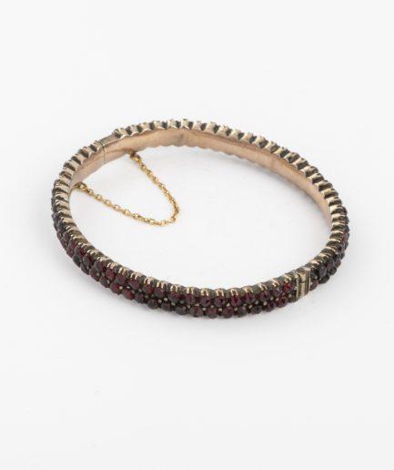 Bracelet ancien argent et grenats Bracelet Ancien Argent Bijoux Anciens - Caillou Paris