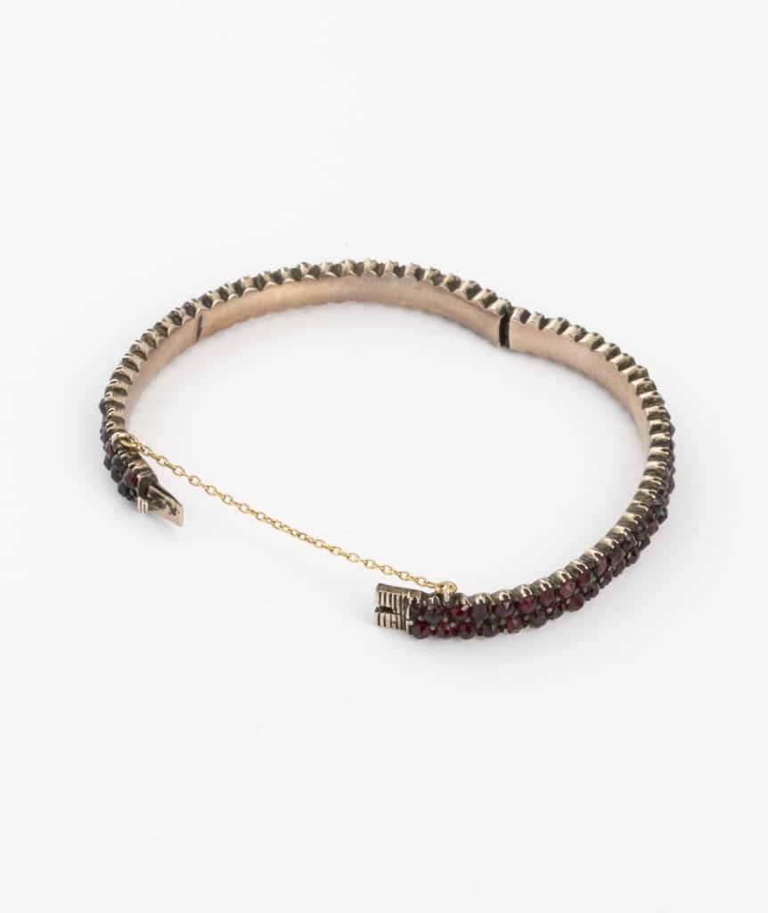 Bracelet ancien argent et grenats