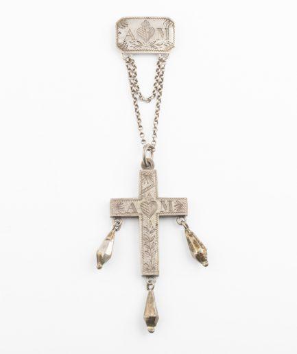 Croix ancienne en argent Pendentif ancien Bijoux Anciens - Caillou Paris