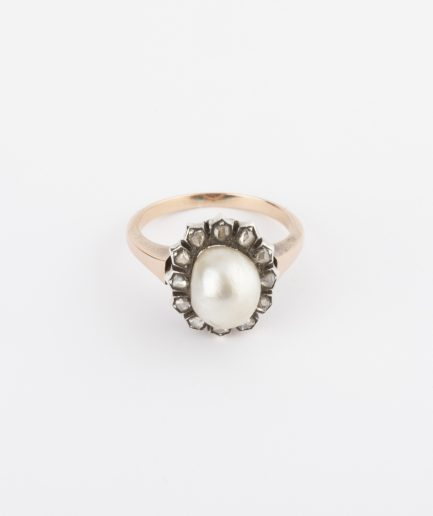 Bague ancienne perle Bijoux Anciens - Caillou Paris