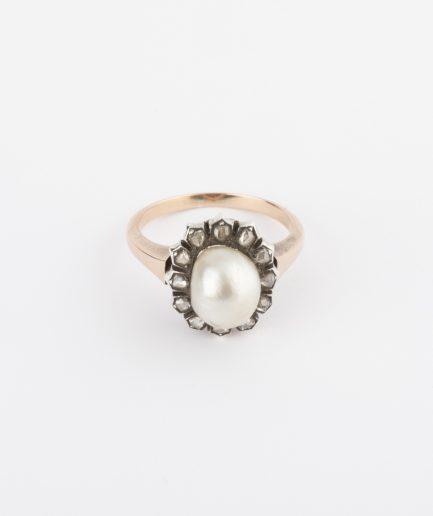 Bague perle baroque