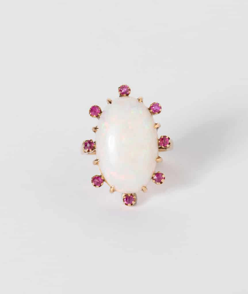 CAILLOU PARIS - Bague opale rubis
