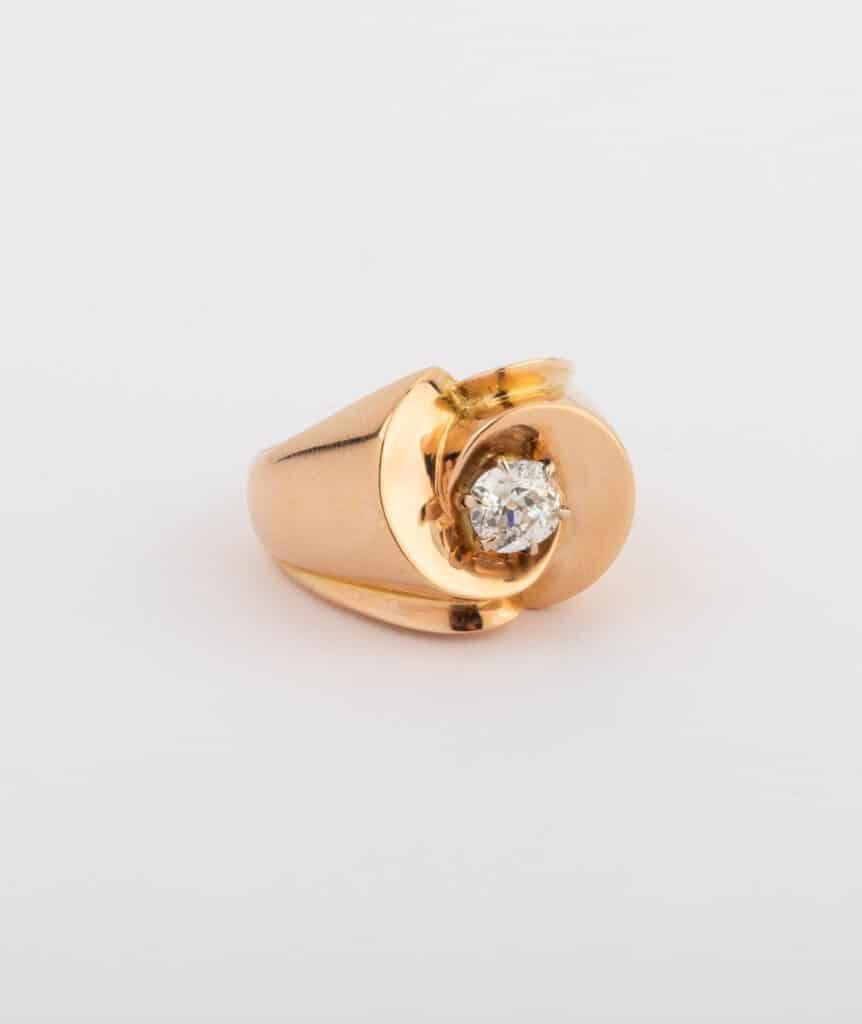CAILLOU PARIS - bague chevalière diamant côté 2