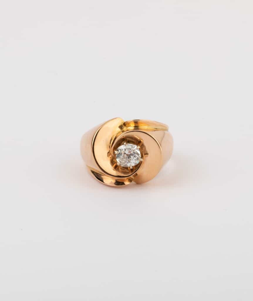 CAILLOU PARIS - bague chevalière diamant