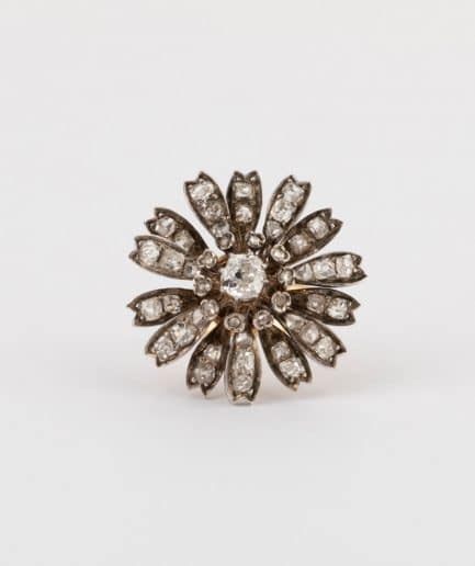 CAILLOU PARIS - bague fleurs diamants