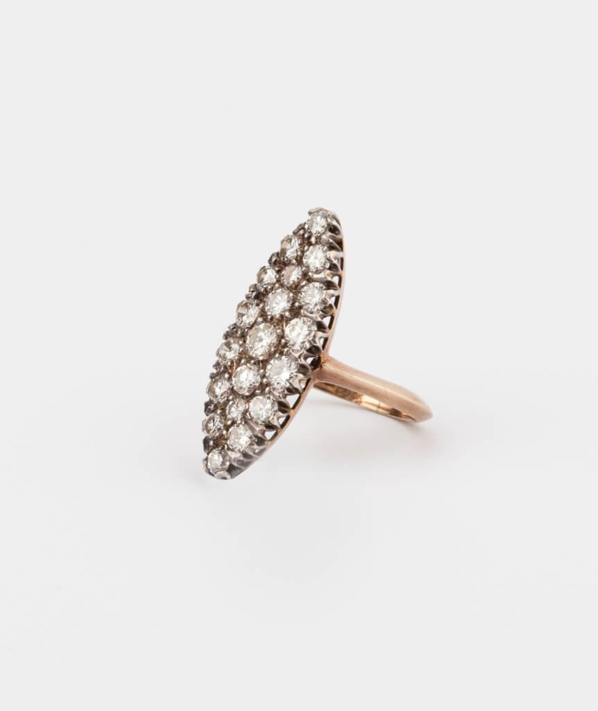 CAILLOU PARIS - bague marquise diamants côté 1