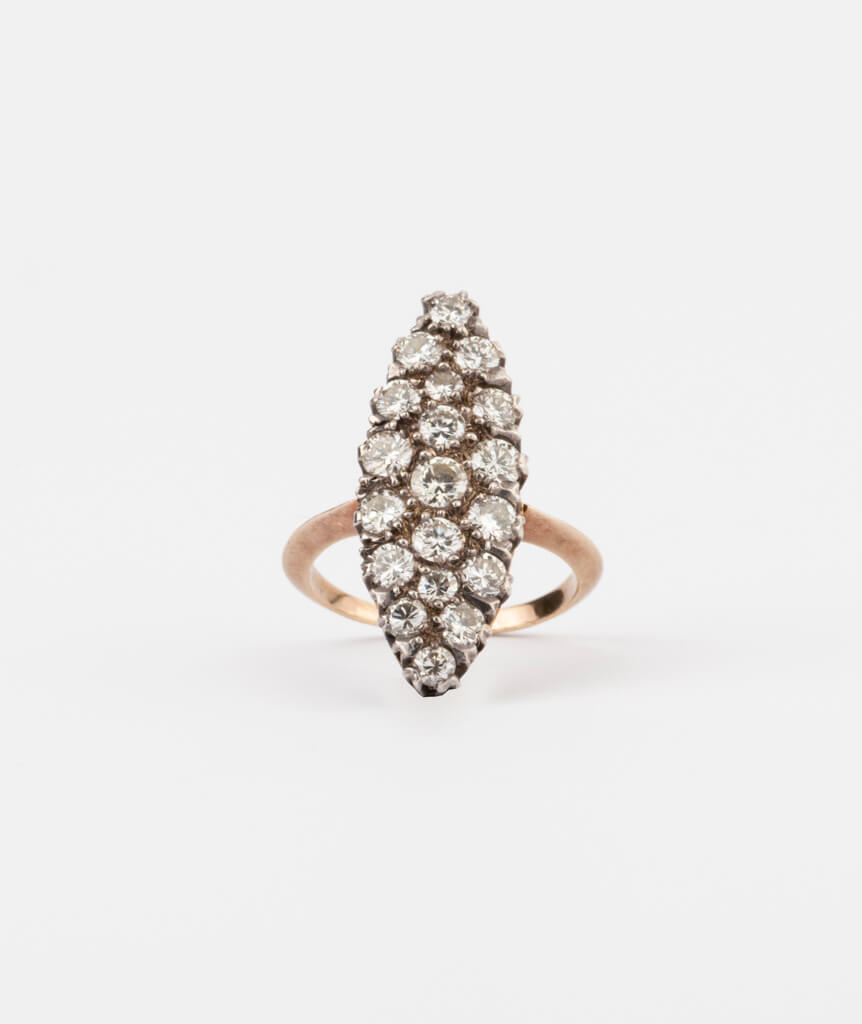 CAILLOU PARIS - bague marquise diamants