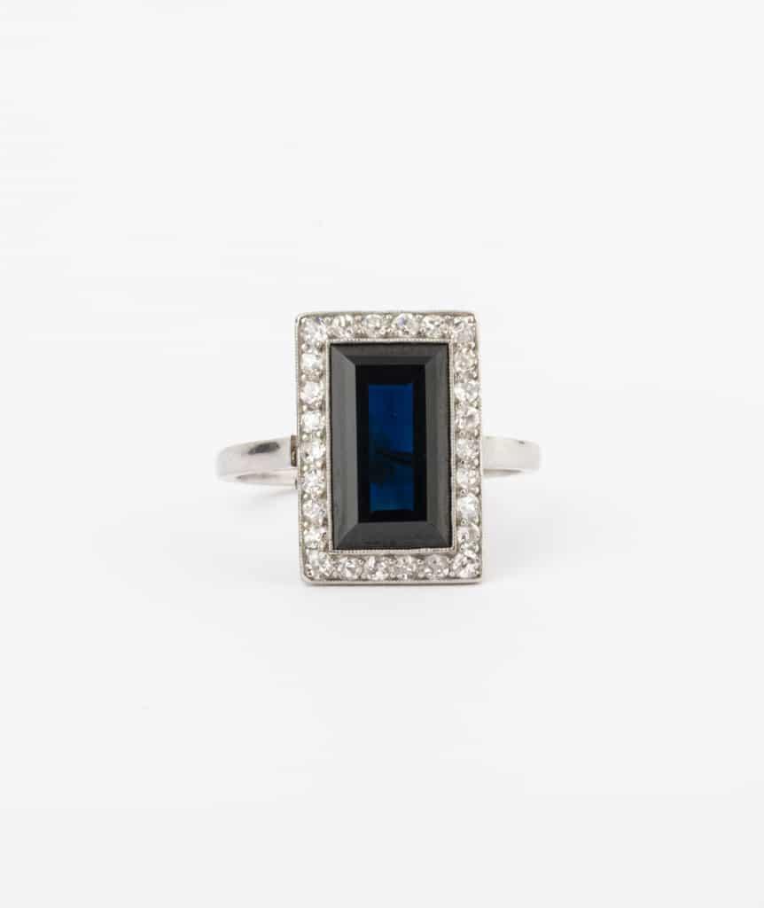 CAILLOU PARIS - bague saphir diamants