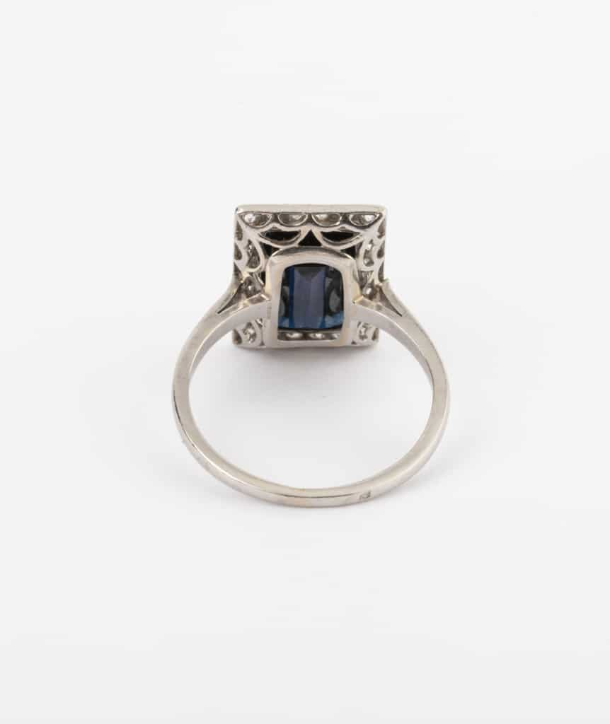 CAILLOU PARIS - bague saphir diamants dos
