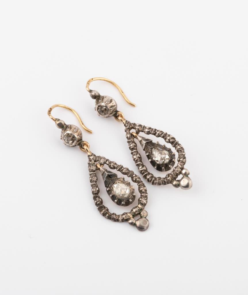 CAILLOU PARIS - boucles d'oreilles argent diamants