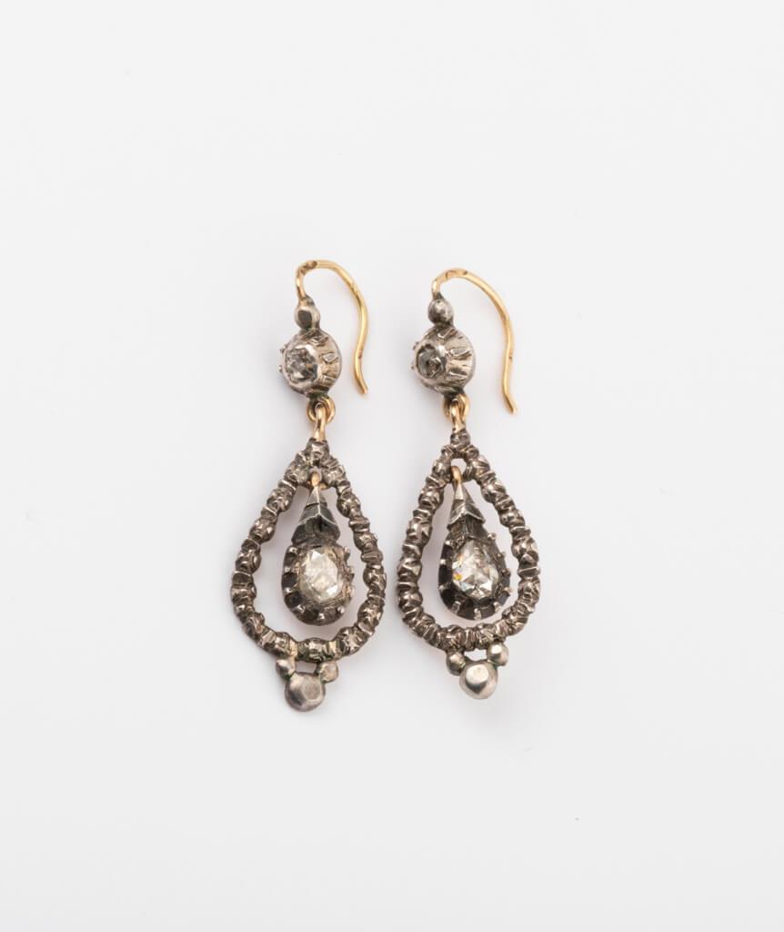 CAILLOU PARIS - boucles d'oreilles argent diamants 2
