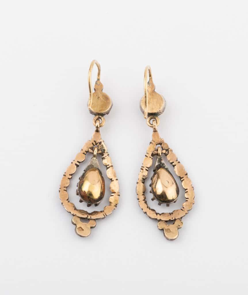 CAILLOU PARIS - boucles d'oreilles argent diamants dos