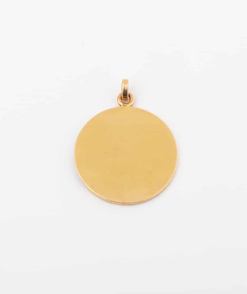 CAILLOU PARIS - médaille Art nouveau femme dos