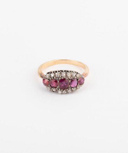 Bague jarretière rubis Bijoux Anciens - Caillou Paris