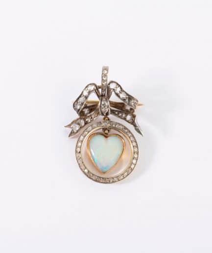 Broche pendentif coeur Broche ancienne Bijoux Anciens - Caillou Paris