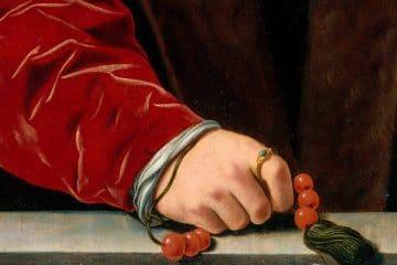 Portrait d'un homme avec un chapelet - d'après Jan Cornelisz Vermeyen