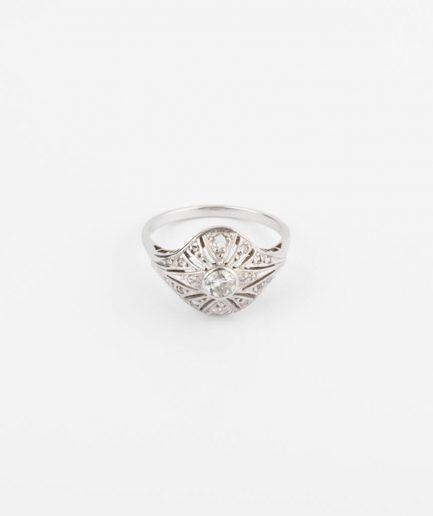Bague Art déco diamants et or blanc Bague Ancienne Bijoux Anciens - Caillou Paris
