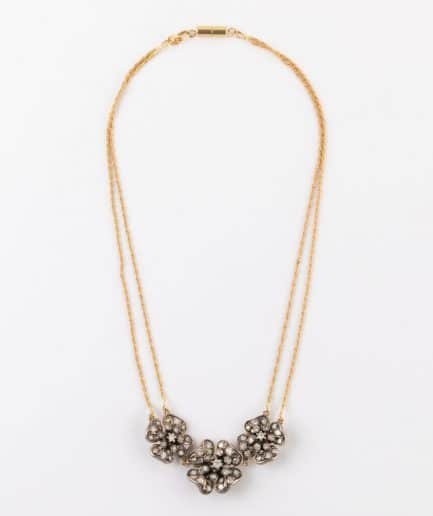 Collier fleurs en diamants Collier ancien Diamant Bijoux Anciens - Caillou Paris