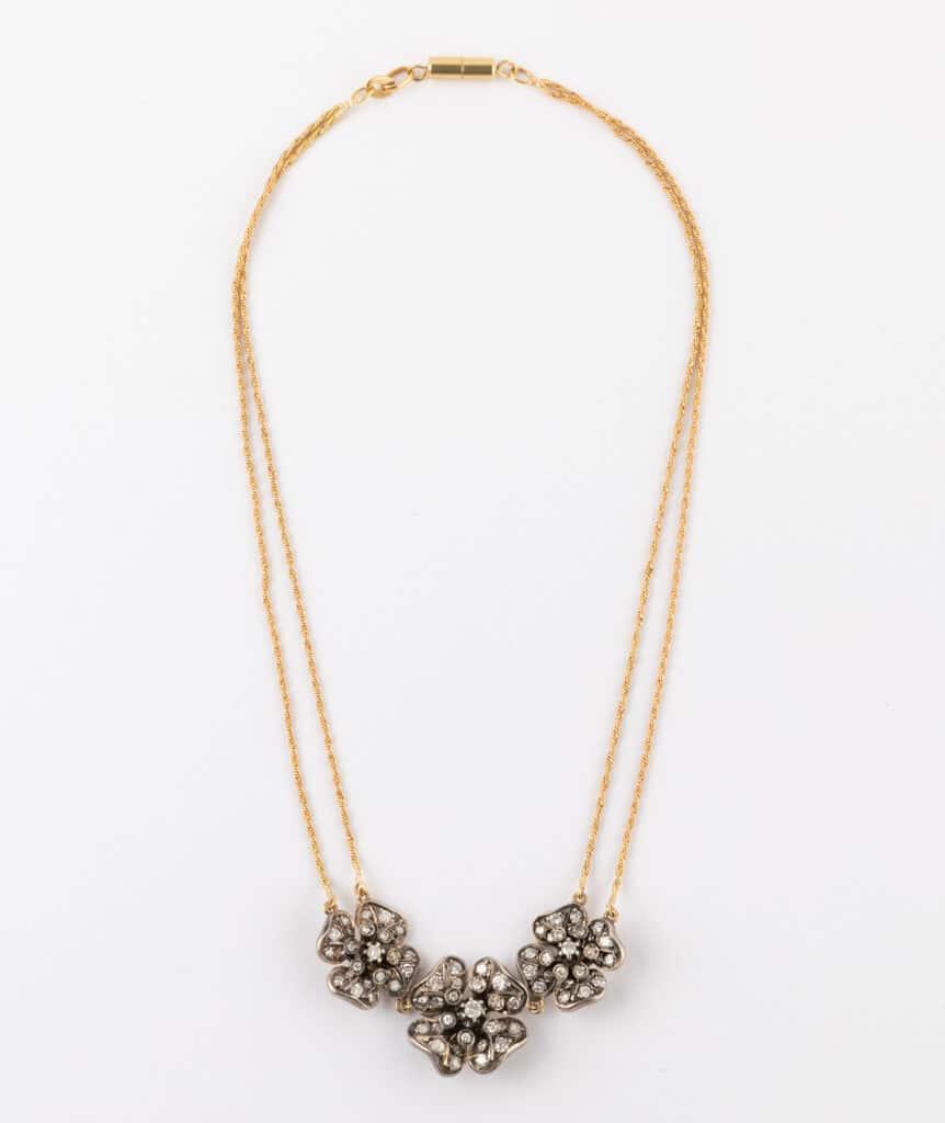 CAILLOU PARIS - Collier fleurs diamants 2
