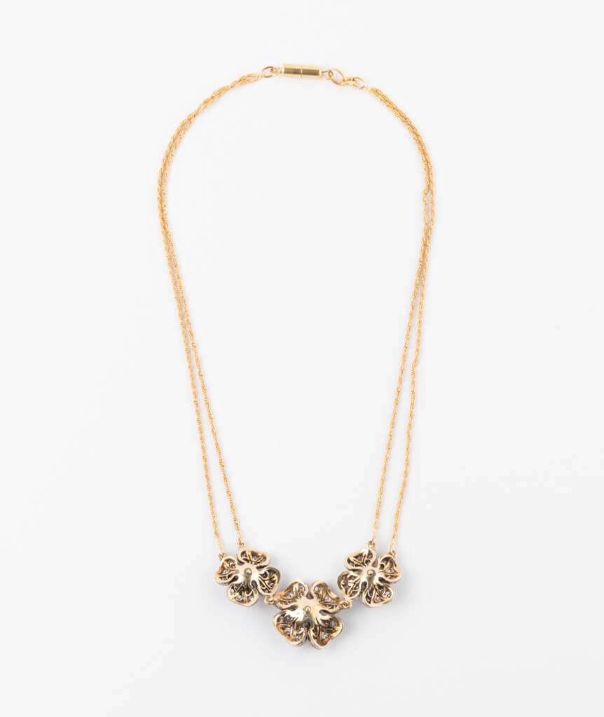 CAILLOU PARIS - Collier fleurs diamants dos
