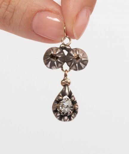 Pendentif argent et diamants porter