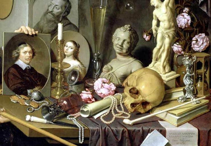 David BAILLY - Autoportrait avec les symboles de la vanité