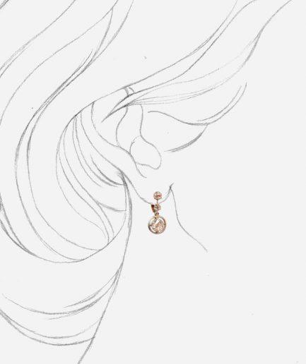 Boucles d'oreilles trembleuses or