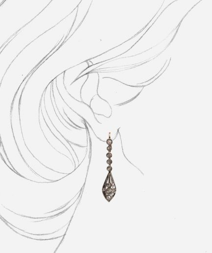 Boucles d'oreilles pampilles diamants