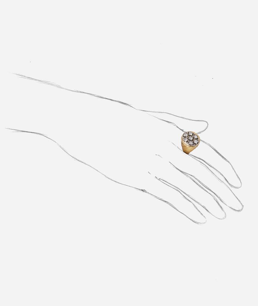 Bague ancienne sept diamants