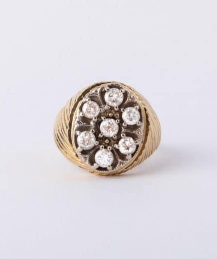 """Bague ancienne sept diamants """"Blanche-Neige"""" Bague Ancienne Bijoux Anciens - Caillou Paris"""