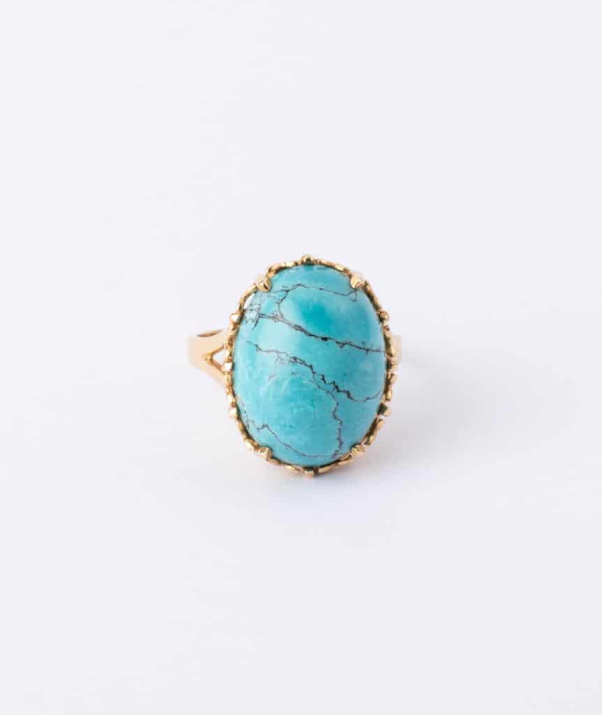 Bague cabochon turquoise