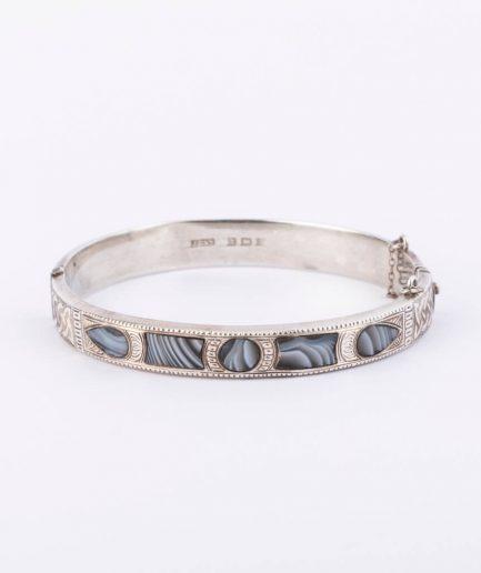 """Bracelet écossais """"Tartan"""" Agate Bijoux Anciens - Caillou Paris"""