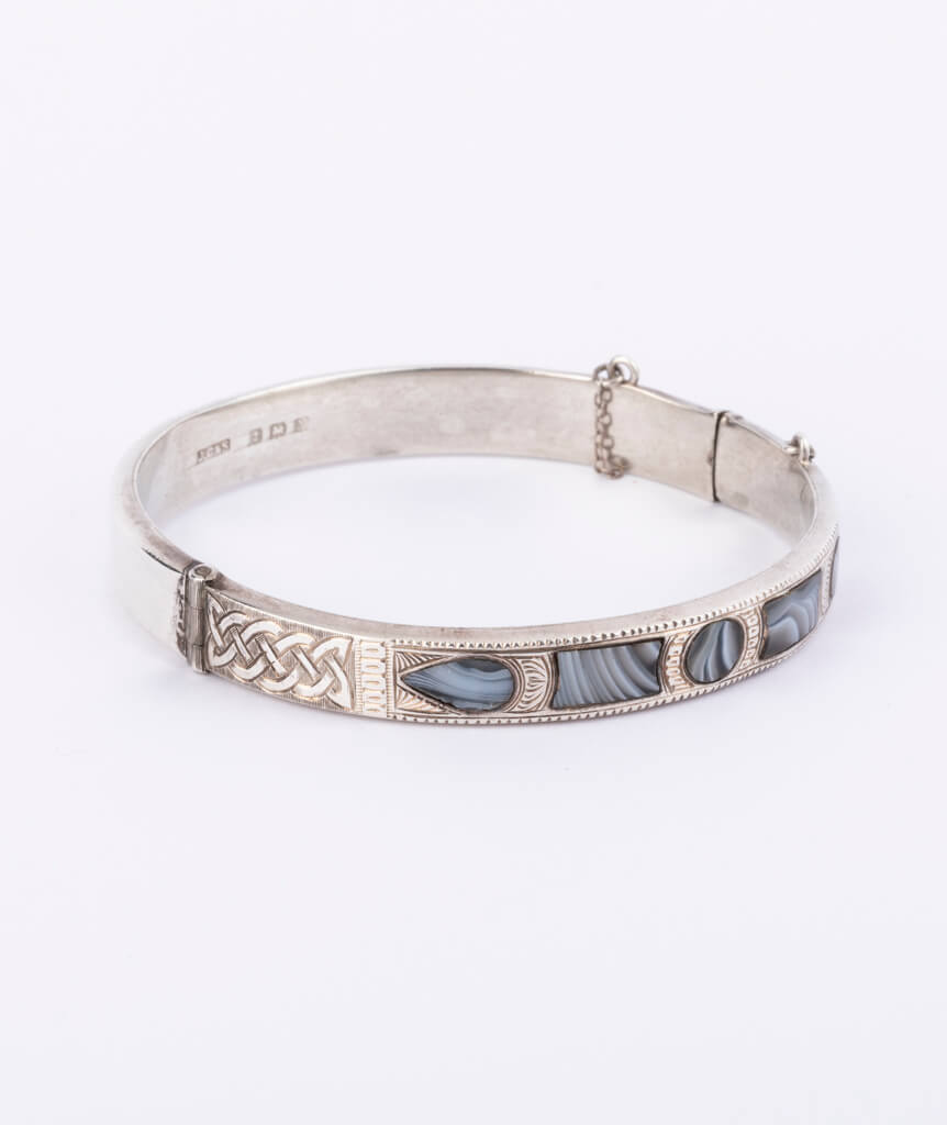 Bracelet écossais argent droite