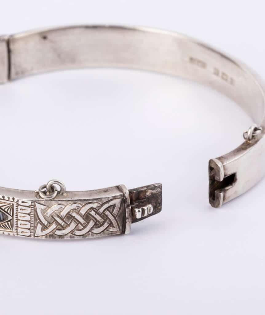 Bracelet écossais argent fermoir