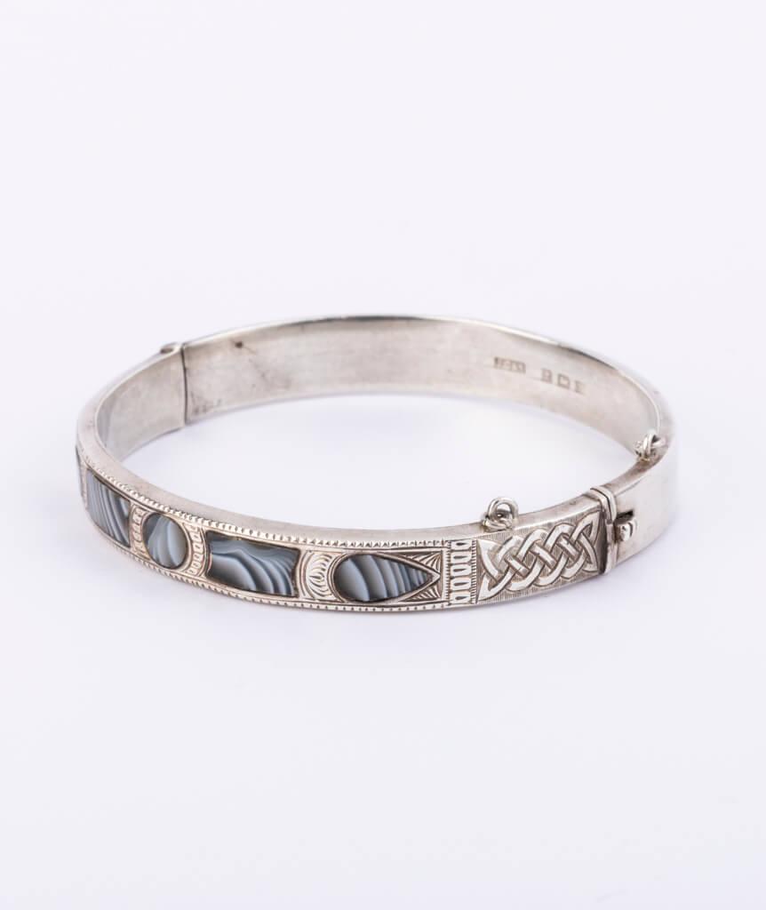 Bracelet écossais argent gauche