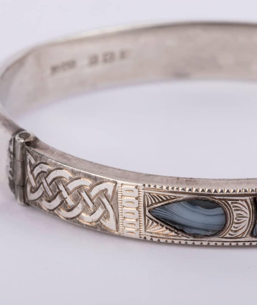Bracelet écossais argent détail 2